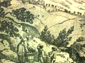 Informational image at the Peak District Mining Museum, Matlock Bath