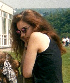 me sulking, at school, circa 1989
