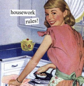Housework rules! picture source: http://feministing.com