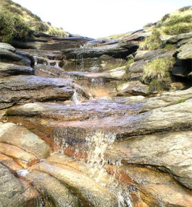One of the many pretty streams up on the Kinder Plateau