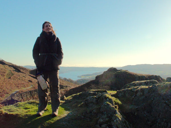 The author grinning, on Loughrigg Fell