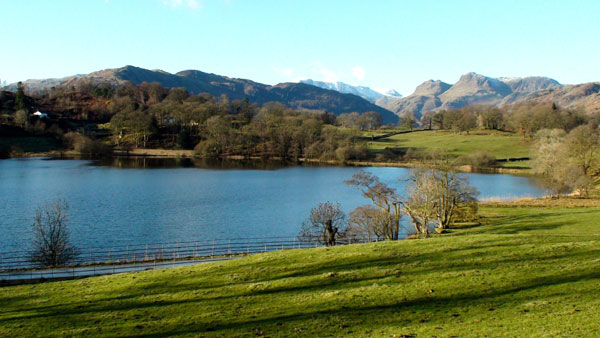 view across Loughrigg Tarn
