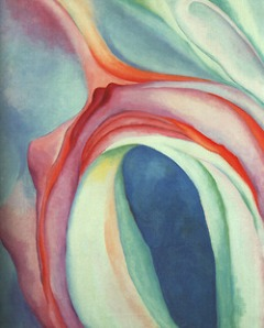 Music Pink and Blue by Georgia O'Keeffe