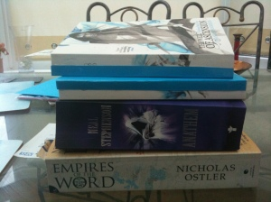 Anathem by Neal Stephenson and Empires of the Word by Nicholas Ostler: more books that may face the chop