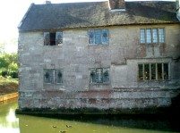 Baddesley Clinton, Warwickshire, side view with moat